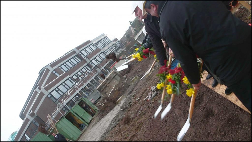 Höfle Spatenstich 22.01.2010